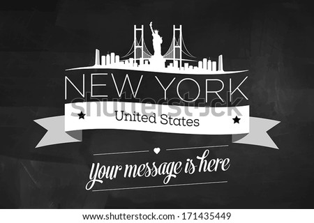 New York City Greeting Card Design Template - stock vector