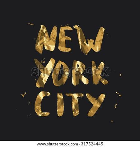 New York city - lettering design. Handwritten quote. - stock vector