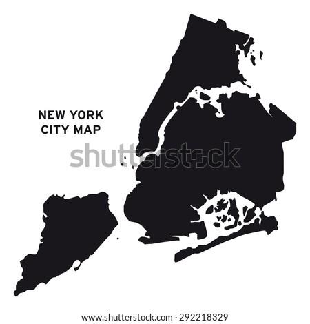 New York city map vector - stock vector
