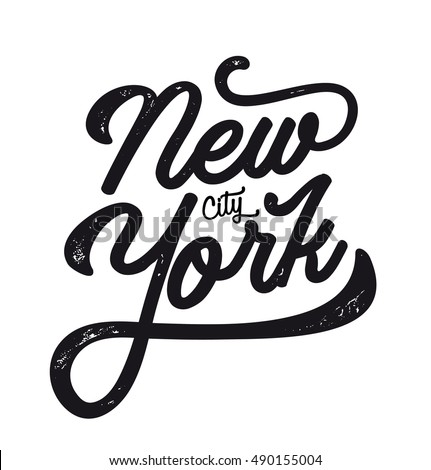 New York City Ny Logo Isolated Stock Vector 490155004
