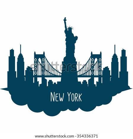 new york city skyline detailed silhouette stock vector 354336371 rh shutterstock com new york city vector map new york city victorian mansions