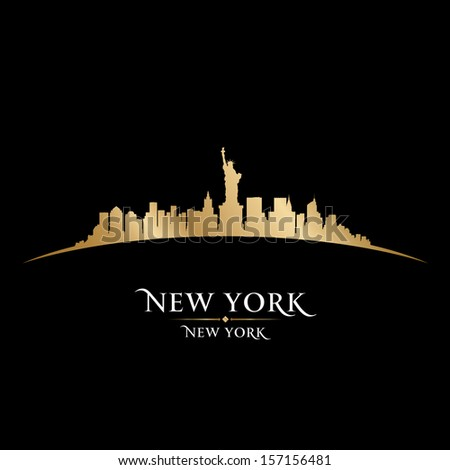 New York city skyline silhouette. Vector illustration - stock vector