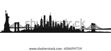 New York City Skyline Vector 606694754