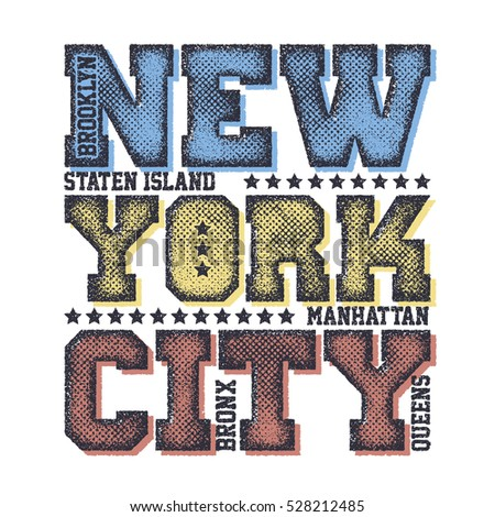 New York City Typography Graphics, T-shirt design. vector illustration