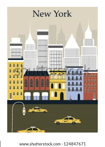 New York city. Vector - stock vector