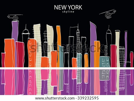 New York city. Vector illustration - stock vector