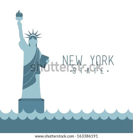 new york design over white background vector illustration - stock vector
