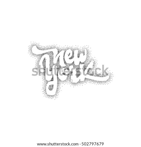 Spread Love Lettering Text Badge Drawn Stock Vector