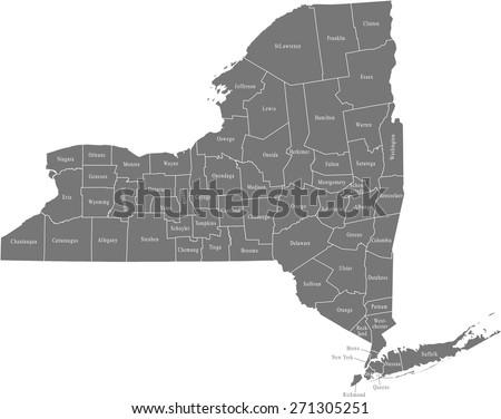 New York map - stock vector