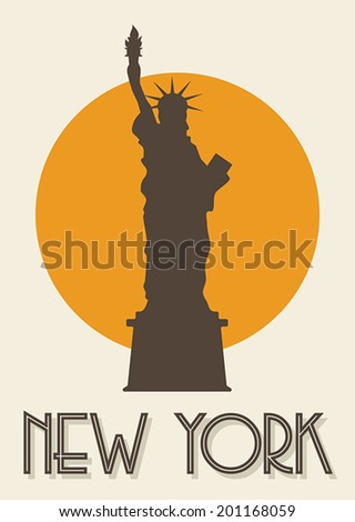 New York poster - stock vector