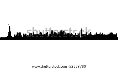 New York Silhouette - stock vector
