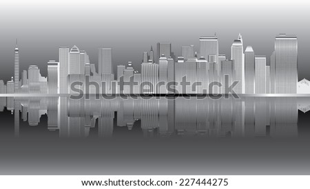 New York Skyline._ Vector  - stock vector