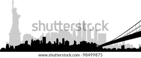New York Skyline Vector - stock vector
