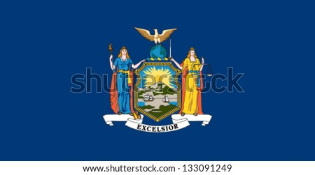 New York State Flag - stock vector