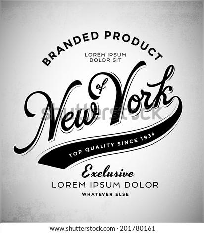 New York T-Shirt Graphics - stock vector