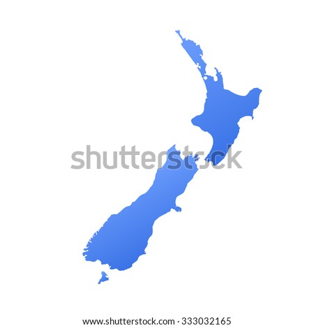 New Zealand country map,border