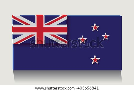 New Zealand flag as art object.Vector illustration. - stock vector