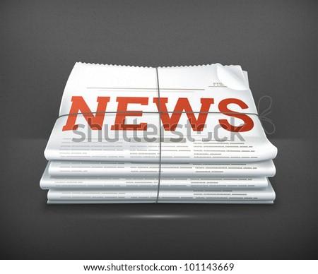 News - stock vector