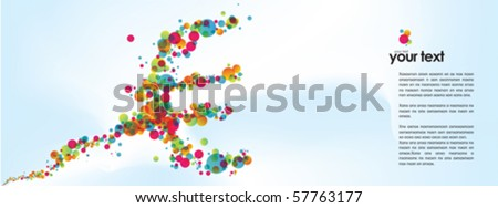 News about euro currency, euro sign. - stock vector