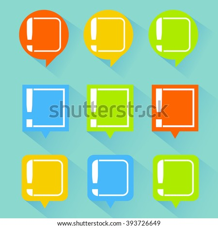 news cloud, important information - stock vector