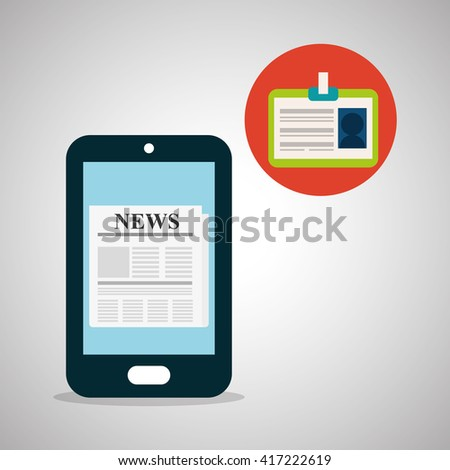 News design. Broadcasting concept. communication icon, vector