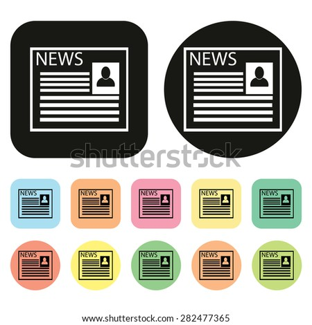 News icon. communication icons. Vector - stock vector