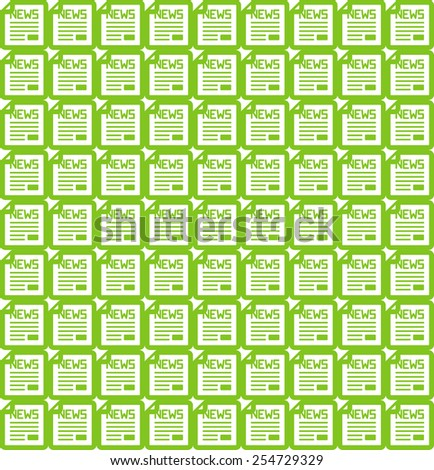 News icon seamless pattern - stock vector