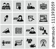 News reporter icons set. - stock photo