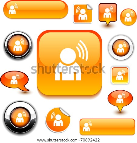 News vector glossy icons. - stock vector