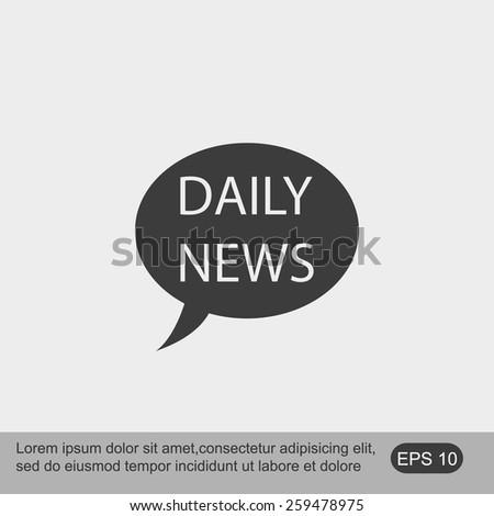 NEWS vector icon - stock vector