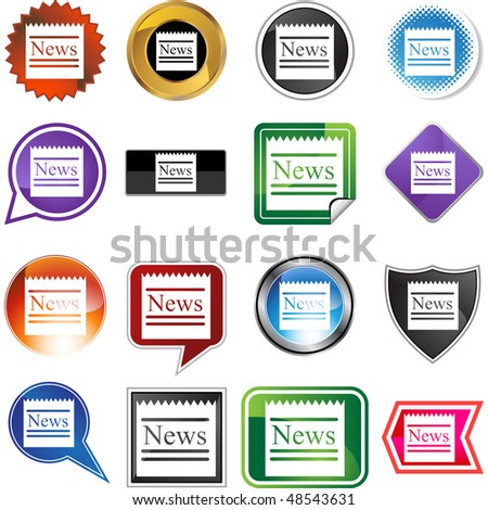 News web button isolated on a background