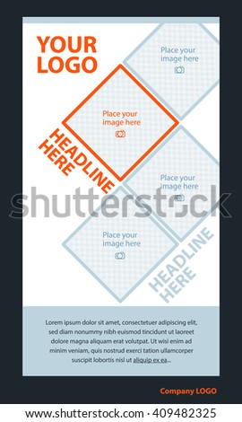 Newsletter corporate vector layout template for business or non-profit organization - stock vector