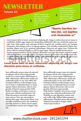 newsletter or website template design can be used in business and non profit organizations