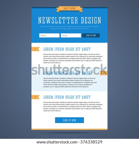 Email Template Images RoyaltyFree Images Vectors – Marketing Email Template