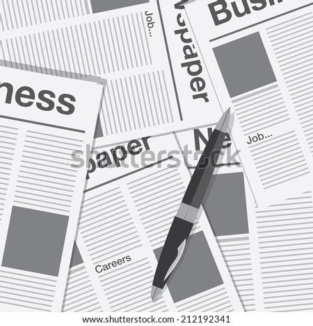 newspaper business finance - stock vector