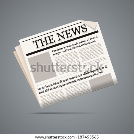 Newspaper illustration. Scalable vector in EPS10. - stock vector