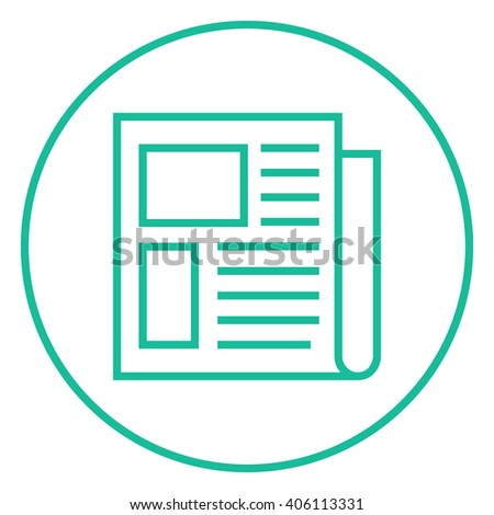 Newspaper line icon. - stock vector