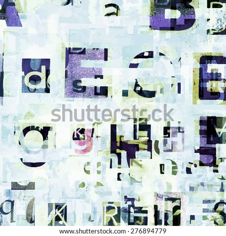 Newspaper, magazine letters background - stock vector