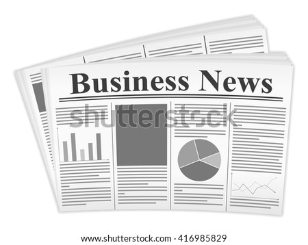 Newspaper on a white background. - stock vector