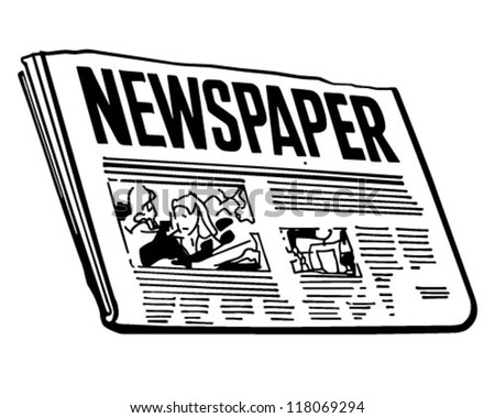 Newspaper Retro Clipart Illustration Stock-vektorgrafik ...