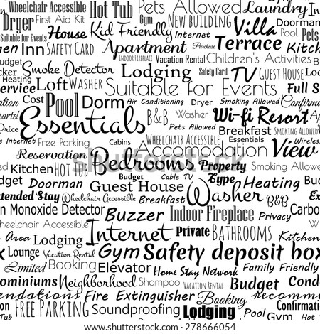 Newspaper Seamless Pattern Words Related Accomodation Stock Vector 278666054 Shutterstock