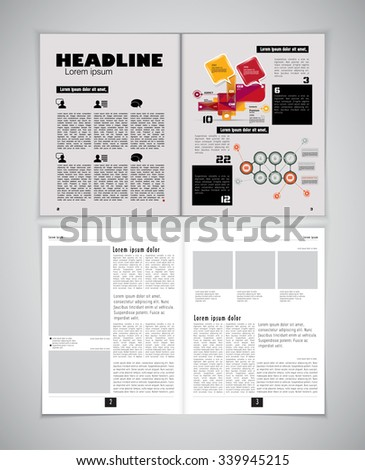 Newspaper template, vector - stock vector