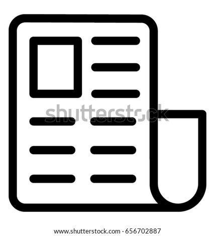 newspaper vector icon stock vector 656702887 shutterstock rh shutterstock com newspaper victor id newspaper victory 1945
