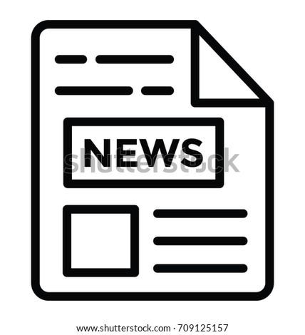 newspaper vector icon stock vector 709125157 shutterstock rh shutterstock com newspaper victor id newspaper victorville