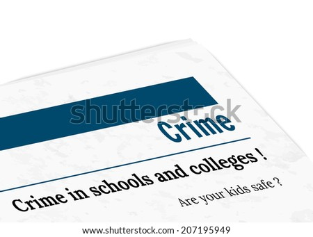 newspaper with grunge effect - crime, vector