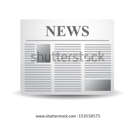 Newspaper xxl icon isolated on white background. VECTOR illustration. - stock vector