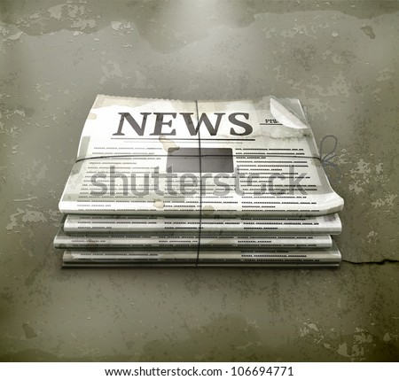 Newspsper, old-style vector - stock vector