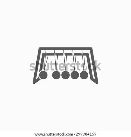 Newton's Cradle icon - stock vector