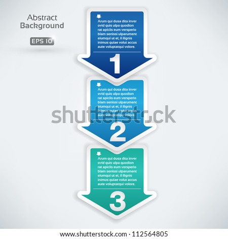 Next step arrow boxes - stock vector