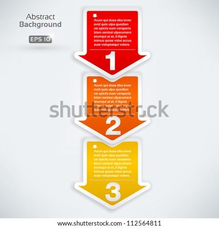 Next step arrow boxes - stock vector